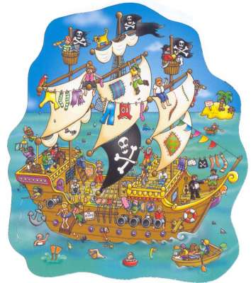 Pirate ship shaped giant floor puzzle jigsaw by orchard for 100 piece floor puzzles