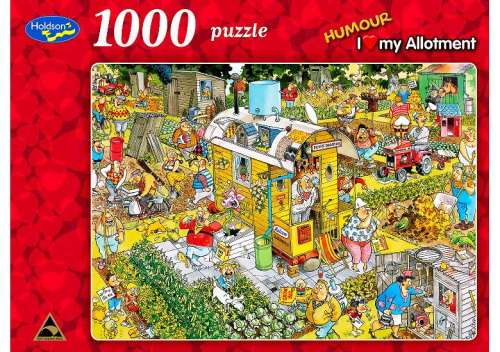 I Love My Allotment (HOL088706), a 1000 piece jigsaw puzzle by Holdson. Click to view larger image.