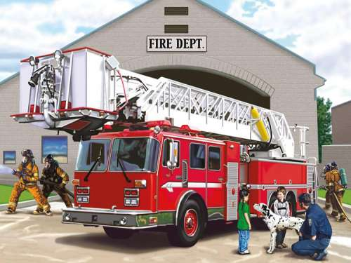 Fire Engine Giant Floor Puzzle Jigsaw By Ravensburger