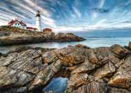 Lighthouse Rocks (Large Pieces) (RB13565-3), a 300 piece Ravensburger jigsaw puzzle.