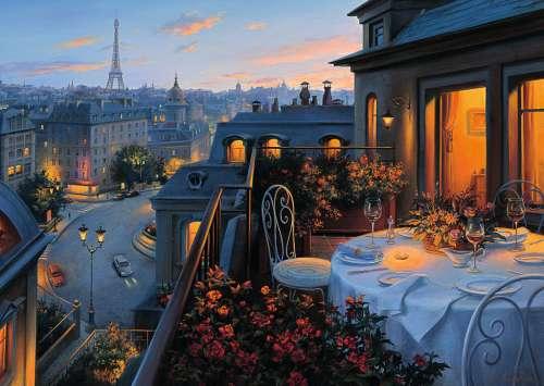 Paris Balcony Jigsaw By Eugene Lushpin Rb19410 0 1000