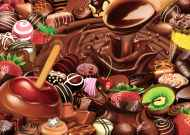 Chocolate Overload (Large Pieces) (RB13561-5), a 300 piece Ravensburger jigsaw puzzle.