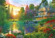 Sunset with Grandpa (Large Pieces) (EDU16746), a 300 piece Educa jigsaw puzzle.