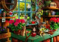 Grandpa's Potting Shed (Large Pieces) (HOL097289), a 500 piece Holdson jigsaw puzzle.