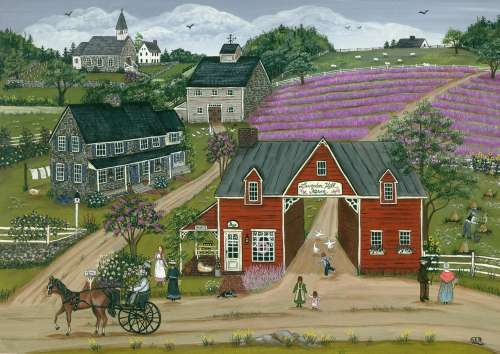 Lavender Hill Farm (HOL092482), a 1000 piece jigsaw puzzle by Holdson. Click to view larger image.