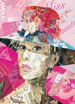 Audrey Hepburn (HOL097487), a 1000 piece jigsaw puzzle by Holdson. Click to view larger image.