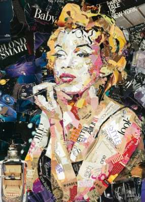Marilyn Monroe (HOL097500), a 1000 piece jigsaw puzzle by Holdson. Click to view larger image.