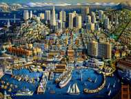 San Francisco (Suitcase Box) (MP71177), a 1000 piece Masterpieces jigsaw puzzle.