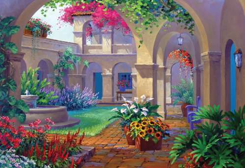 Intriguing Archway (HOL096503), a 500 piece jigsaw puzzle by Holdson. Click to view larger image.