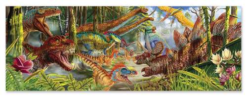 Dinosaur World Floor Puzzle (MND8908), a 200 piece jigsaw puzzle by Melissa and Doug. Click to view larger image.