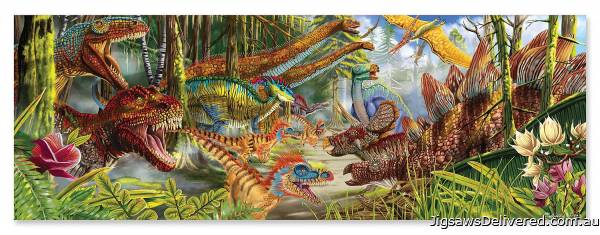 Dinosaur World Floor Puzzle (MND8908), a 200 piece jigsaw puzzle by Melissa and Doug.