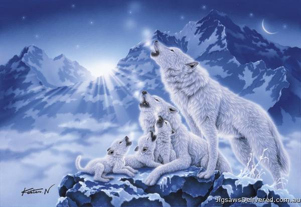 Family of Wolves (CLE 39280), a 1000 piece jigsaw puzzle by Clementoni.