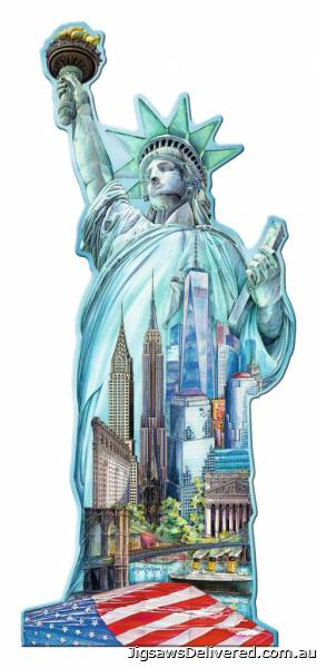 Statue of Liberty (Shaped Puzzle) (RB16151-5), a 1000 piece jigsaw puzzle by Ravensburger.