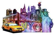 New York (Shaped Puzzle) (RB16153-9), a 1158 piece Ravensburger jigsaw puzzle.