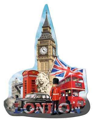 Big Ben (Shaped Puzzle) (RB16155-3), a 1155 piece jigsaw puzzle by Ravensburger. Click to view larger image.
