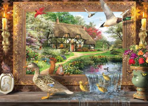 Ducks Crossing (HOL096268), a 1000 piece jigsaw puzzle by Holdson. Click to view larger image.