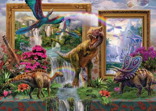 Dino Blend (HOL096251), a 1000 piece jigsaw puzzle by Holdson. Click to view larger image.