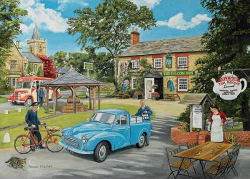 The Milkman (HOL096350), a 1000 piece jigsaw puzzle by Holdson. Click to view larger image.