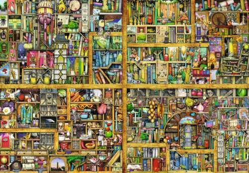 Magical Bookcase (RB17825-4), a 18000 piece jigsaw puzzle by Ravensburger. Click to view larger image.