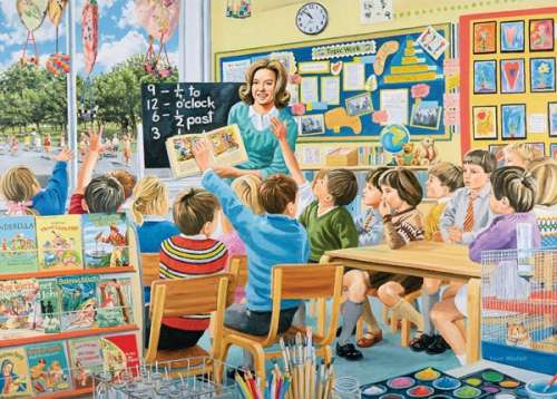The Teacher (HOL096367), a 1000 piece jigsaw puzzle by Holdson. Click to view larger image.