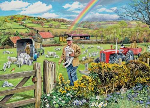 The Farmer (HOL096343), a 1000 piece jigsaw puzzle by Holdson. Click to view larger image.