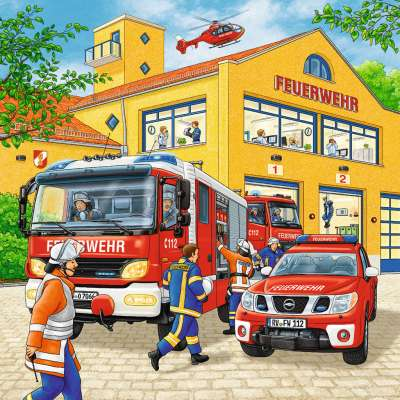 Fire Brigade (3 x 49pc) (RB09401-1), a 49 piece jigsaw puzzle by Ravensburger. Click to view larger image.