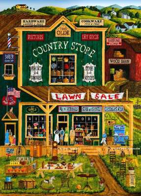 Olde Country Store (HOL097425), a 1000 piece jigsaw puzzle by Holdson. Click to view larger image.