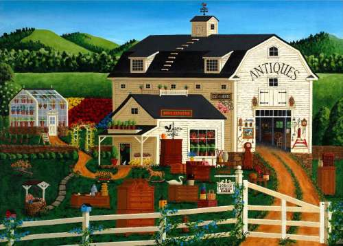 Antique Barn (HOL097401), a 1000 piece jigsaw puzzle by Holdson. Click to view larger image.