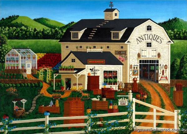 Antique Barn (HOL097401), a 1000 piece jigsaw puzzle by Holdson.
