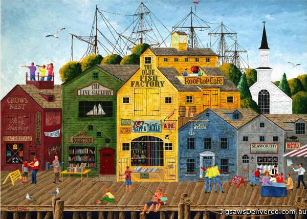 Crows Nest Harbour (HOL097395), a 1000 piece jigsaw puzzle by Holdson.