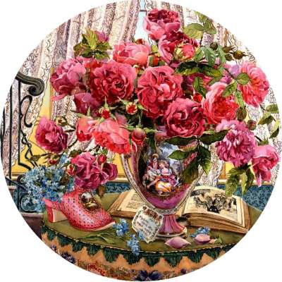 Tales of the Rose (HOL097951), a 500 piece jigsaw puzzle by Holdson. Click to view larger image.