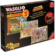 Wasgij Collectors Box 3 (3-in-1) (JUM19115), a 1000 piece jigsaw puzzle by Jumbo and artist Graham Thompson. Click to view this jigsaw puzzle.
