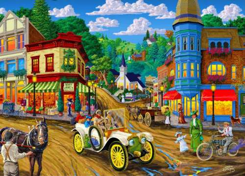 Mary Jane's General Store (Main Streets) (HOL097364), a 1000 piece jigsaw puzzle by Holdson. Click to view larger image.