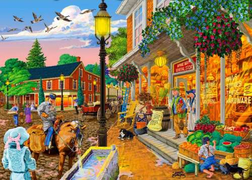 Minnie's General Store (Main Streets) (HOL097388), a 1000 piece jigsaw puzzle by Holdson. Click to view larger image.