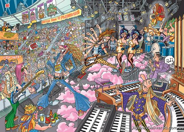 Old Time Rockers (Destiny Wasgij 16) (HOL97630), a 1000 piece jigsaw puzzle by Holdson.