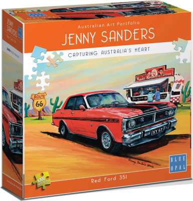 Red Ford 351 (BL01903), a 1000 piece jigsaw puzzle by Blue Opal. Click to view larger image.