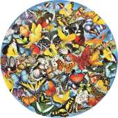 Butterflies in the Round (SUN34953), a 1000 piece Sunsout jigsaw puzzle.