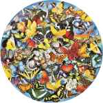 Butterflies in the Round (SUN34953), a 1000 piece jigsaw puzzle by Sunsout and artist Lori Schory. Click to view this jigsaw puzzle.