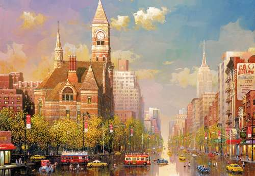 New York Afternoon (EDU16783), a 6000 piece jigsaw puzzle by Educa. Click to view larger image.