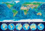 World Map (Glow in the Dark) (EDU16760), a 1000 piece Educa jigsaw puzzle.