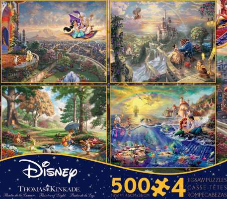 Disney Kinkade Collection (CEA3667), a 500 piece jigsaw puzzle by Ceaco. Click to view larger image.