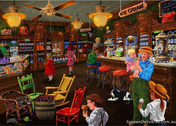 Ice Cream Parlour (Love to Shop) (HOL097562), a 1000 piece jigsaw puzzle by Holdson.
