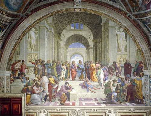 The School of Athens (EUR64141), a 1000 piece jigsaw puzzle by Eurographics. Click to view larger image.