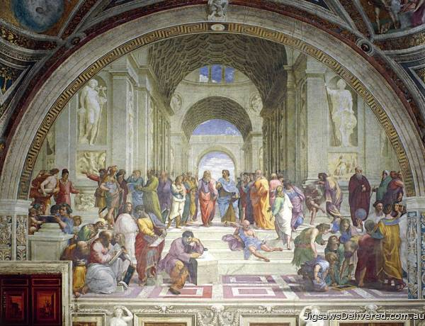 The School of Athens (EUR64141), a 1000 piece jigsaw puzzle by Eurographics.