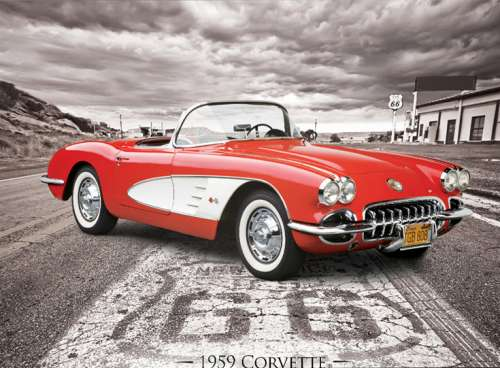 59 Corvette (EUR80665), a 1000 piece jigsaw puzzle by Eurographics. Click to view larger image.