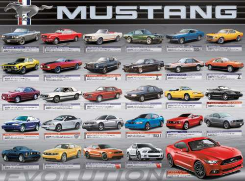 Ford Mustang Evolution (EUR60684), a 1000 piece jigsaw puzzle by Eurographics. Click to view larger image.