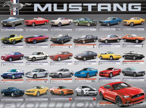 Ford Mustang Evolution (EUR60684), a 1000 piece jigsaw puzzle by Eurographics.