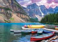 Moraine Lake Canoes, Canada (EUR60693), a 1000 piece jigsaw puzzle by Eurographics. Click to view this jigsaw puzzle.