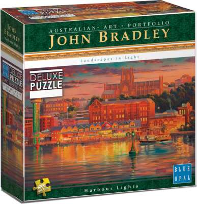 Harbour Lights (BL01912), a 1000 piece jigsaw puzzle by Blue Opal. Click to view larger image.
