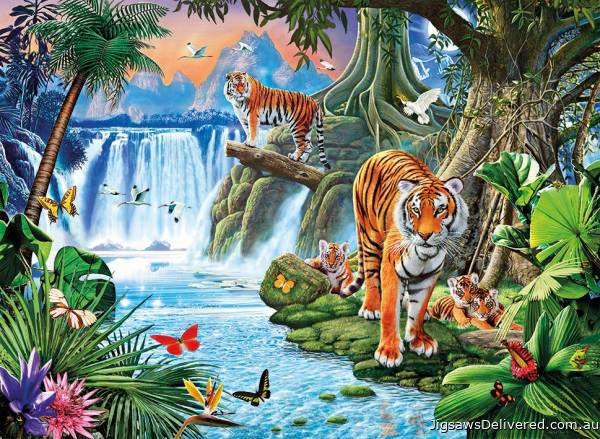 Tiger's Family (CLE 31636), a 1500 piece jigsaw puzzle by Clementoni.